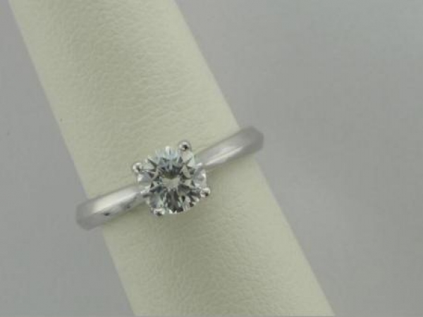Engagement Ring - 14Ktw Dia Engagement Ring (.07Tw) - Sterling & Cz Sample Ring