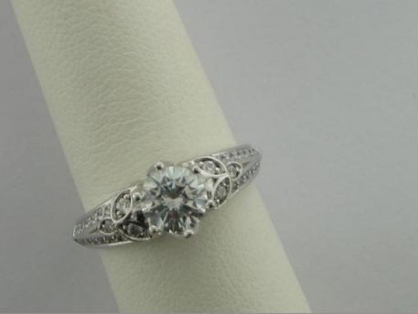 Engagement Ring - 14Ktw Dia Engagement Ring (.25Tw) - Sterling & Cz Sample Ring