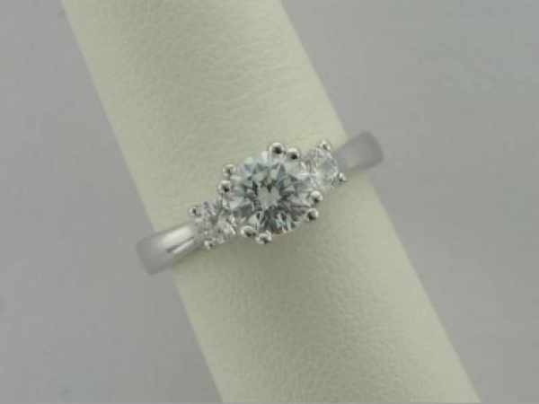 Engagement Ring - 14Ktw Dia Engagement Ring (.33Tw) - Sterling & Cz Sample Ring