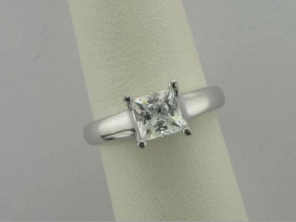 Engagement Ring - 14Ktw Dia Engagement Ring - Sterling & Cz Sample Ring