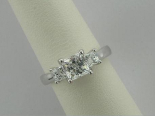 Engagement Ring - 14Ktw Dia Engagement Ring (.50TW)- Sterling & Cz Sample Ring