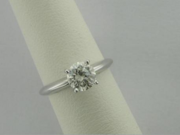 Engagement Ring - 14Ktw 1.02Ct Diamond Solitaire Engagement Ring (J SI2)