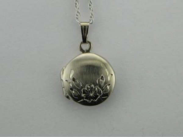 Silver Necklaces/Chains - Sterling Silver Round Locket & Chain