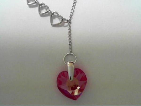 Silver Necklaces/Chains - Silver Love Potion pendant (preciosa-fushia)